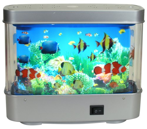 aquarium lamp motion fish night light