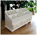 Multi-purpose White Wood Cosmetic Org...