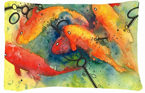 Microfiber Peach Queen Size Soft And Silky Decorative Pillow Case -Fishes Animal Fish Oriental Asian Koi Fish front-829908