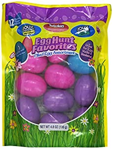 Hershey's Easter Candy Filled Eggs Assortment (Jolly Rancher Hard Candy, Jolly Rancher Fruit Chews & Twizzlers Pull 'n' Peel Strawberry Creme), 4.8-Ounce Bags (Pack of 3)