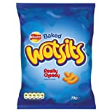 Walkers Baked Wotsits Really Cheesy Flavour Corn Puffs 70g Price Marked £1.00 (Pack of 14)