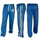 Fleece Joggers Track Suit Bottom Jogging Trousers Exercise Fitness Boxing MMA Gym Sweat Fleece Trousers Cotton Fleece BLUE-DARK
