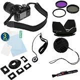 BIRUGEAR 10 Items Value Accessories Bundle kit for Nikon D5200, D5000, D3000, D3100, D5100 D800 D800E(with 18-55mm, 55-200mm, 50mm f/1.8D NIKKOR Lenses), Canon EOS 60D, 7D, 650D, 600d, 550D (with EF 50mm f/1.8 II Lens)