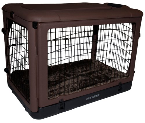 Pet Gear The Other Door Steel Crate With Fleece Pad For