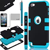Pandamimi ULAK(TM) Hybrid 3 Layer Hard Case Cover with Silicone Shell Inside Case for Apple iPod Touch Generation 5 + Stylus + Screen Protector