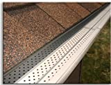 "Flexx Point 30 Year Gutter Cover System- White Residential 5"" Gutter Guards, 100 Ft."