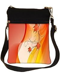 Snoogg Design Widescreen Hdtv Cross Body Tote Bag / Shoulder Sling Carry Bag