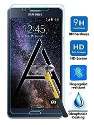Samsung Galaxy A8 Screen Protector, Hapurs Galaxy A8 SM-A8000 Tempered Glass Premium 0.33mm 2.5D High Definition (HD) Clear Screen Protector for Samsung Galaxy A8 SM-A8000 (5.7 ) - Anti-Scratch / Shatterproof / Water & Oil Re