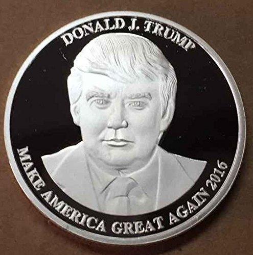 Aizics Mint President Donald Trump 2016 Silver Plated