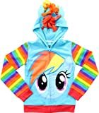 My Little Pony Rainbow Dash Blue Girls Costume Hoodie Sweatshirt (Girls 16)