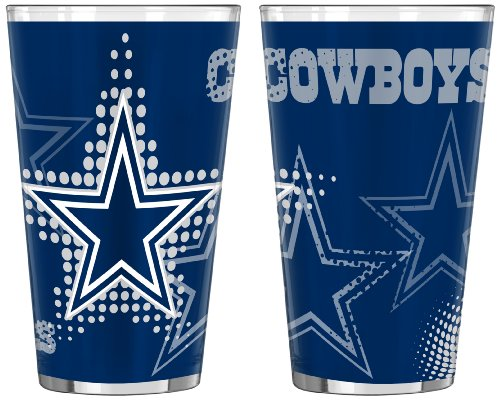 Nfl Dallas Cowboys 16-Ounce Half Tone Pint Glass (Pack Of 2) front-623096