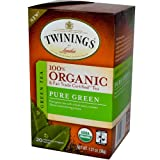 Twinings, 100% Organic Green Tea, Pure Green, 20 Tea Bags, 1.27 oz (36 g)