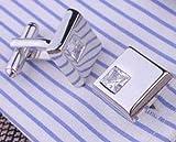 メンズシャツ袖口 カフスボタン クリスタル  カフリンクス