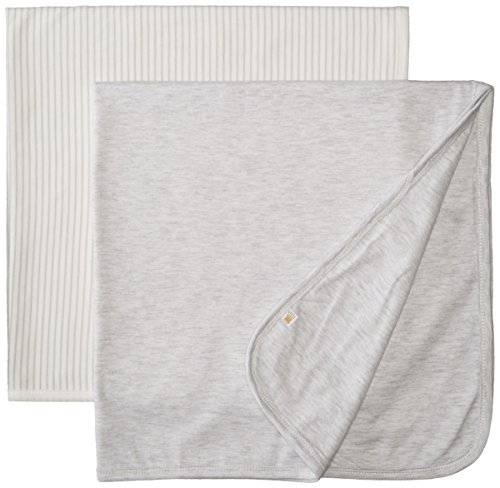 Rosie Pope Unisex-Baby Newborn 2-Pack Blanket, Grey, One Size - 1