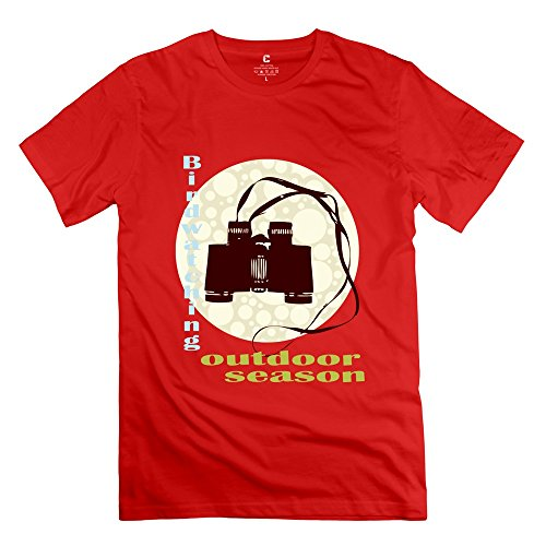 Tbtj-X Camera Tees For Men'S Red Small
