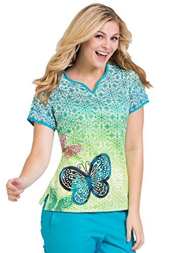 Ladies-Print-100-Cotton-Notch-Neck-Scrub-Top-Natasha-by-Peaches-Uniforms