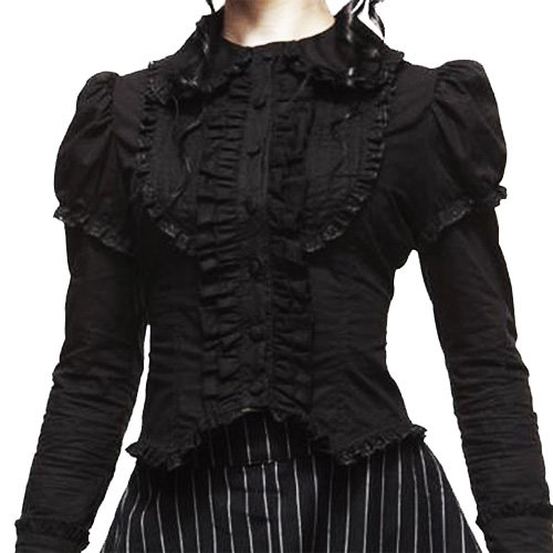 HELL BUNNY Victorian TOP Steam Punk MARIANNE Gothic XS 4/6