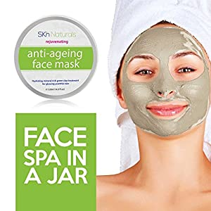 Collagen Facial Mask for Reducing Fine Lines & Wrinkles - 100% Natural Clay Face Mask - Hydrating, Moisturising & Pore Reducing for Dry or Aging Skin - Facial Mask for Women, Men & All Skin Types
