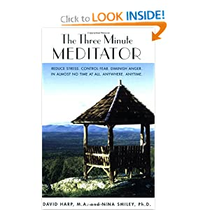 The Three Minute Meditator: Reduce Stress. Control Fear. Diminish Anger. In Almost No Time at All. Anywhere. Anytime. [Paperback] — by David Harp (Author), Nina Smiley (Author)