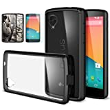 [AIR CUSHION] Spigen Google Nexus 5 Case ULTRA HYBRID [Black] [1 FREE Premium Japanese Screen Protector + 2 FREE Graphics] Scratch Resistant Bumper Case with Clear Back Panel for Nexus 5 - ECO-Friendly Package - Black (SGP10609)