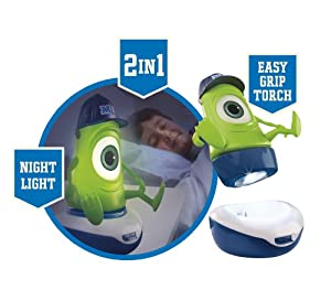 New Disney Pixar Monsters University Inc Worlds Apart Mike Go Glow Light Torch