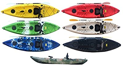 Bluefin Single Sit On Top Fishing Kayak| With Rod Holders, Storage Hatches, Padded Seat & Paddle