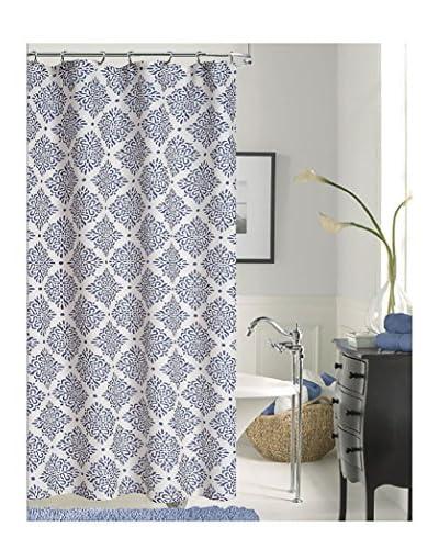 Dainty Home Paulette Diamonds Shower Curtain, Navy