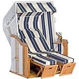 Dreams4Home Gartenstrandkorb 'Ties', 125x160x90 cm, in weiß,Strandkorb