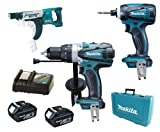 Makita 18V LXT Li Ion DK18000 Kit BHP458, BTD140 & BFR750 BFR750Z BFR750Rfe Screw Gun