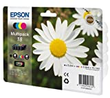 Epson 18 Multipack - Print cartridge - 1 x black, yellow, cyan, magenta - for Expression Home XP-102, XP-202, XP-205, XP-30, XP-302, XP-305, XP-402, XP-405