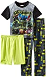 AME Boys Neon Warriors Avengers 3-Pc Sleepwear Set
