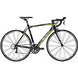 メリダ(MERIDA) ロードバイク SCULTURA 100 マットMETブラック(グリーン/ホワイト) 47サイズ