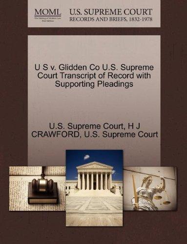 U S v. Glidden Co U.S. Supreme Court Transcript of Record with Supporting Pleadings