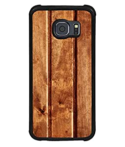 printtech Wooden Design Back Case Cover for Samsung Galaxy S6::Samsung Galaxy S6 G920