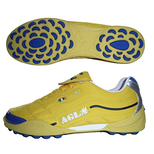AGLA PROFESSIONAL EVOLUTION EXE TOP 2 YELLOW scarpe calcetto calcio a 5 futsal (EU 44,5)