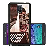 Luxlady Premium Samsung Galaxy Note 4 Aluminum Backplate Bumper Snap Case IMAGE ID 31567682 Argentine tango set of tango related images on black background toned image