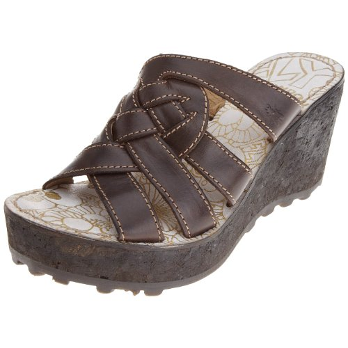 Fly London Women's Gal Dark Brown Wedge Sandal P141850005 7 UK