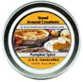 Premium 100% All Natural Soy Wax Aromatherapy Candle - 2 oz Tin Pumpkin Spice: A true-to-life fragrance bursting with fresh pumpkin. Mouthwatering notes of butter, sugar, and spices complete this irresistible bakery fragrance.