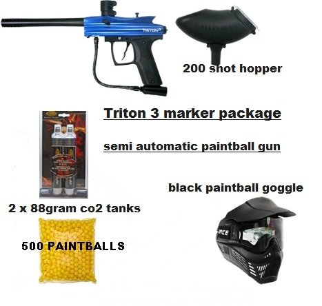 PAINTBALL GUN ,HOPPER AND BOTTLE...VL TRITON 3 (COMPLETE PACKAGE)
