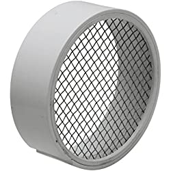 Raven TVS2SS PVC Termination Vent with Stainless Steel Screen, 2""