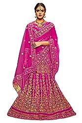 Manvaa Women Net Lehenga Choli(Pink_ASMMTZ7007A_Free Size)