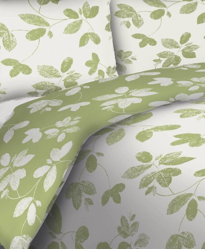 Divatex Cotton Jade 250-Thread Count Duvet Full/Queen Mini Set, Sage