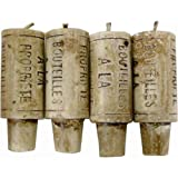 Novelty Lifesize Wine Cork Candles - set of 4