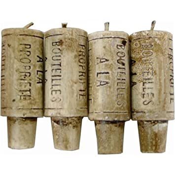 Click to buy Wedding Reception Decoration Ideas: Wine Cork Candles - Gift Set of 4 (Fits any Wine Bottle) - Perfect Novelty Gift Item  from Amazon!