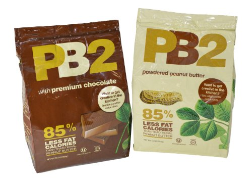 PB2 Powdered Peanut Butter 16 oz Bags Pack of 2 Peanut Butter and Chocolate Peanut Butter