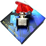 ぶーぶーマテリアル ミサイルスイッチ 赤 レッド ON /OFF LED トグル式 電装 3極タイプ 【カーパーツ】