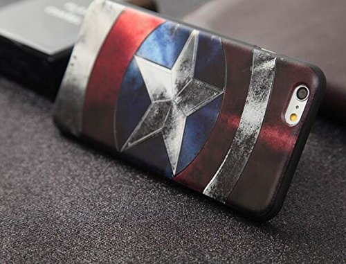 Apple IPhone 7 Case, Double-lin Avengers Cute Fashion Soft TPU Silicone Case Cover For Apple IPhone 7 Captain America (Captain America Iphone compare prices)