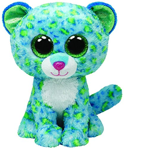 Ty Beanie Boos Leona Blue Leopard Regular Plush