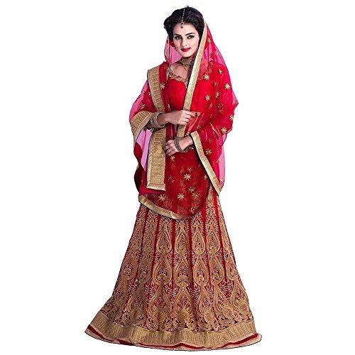 Janasya-Womens-Net-Lehenga-Choli-JNE-LEN-0899-REDARedFree-Size