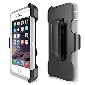 iPhone 6 Case, iPhone 6S Case,4 Layer Rugged Rubber Shorkproof Waterproof Built-In Screen Protector Drop Protective Heavy Duty Case Cover [With Kickstand] (grey)